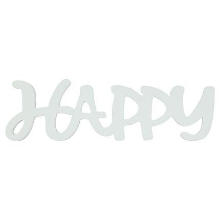 """Mot """"HAPPY"""" en bois peint"""