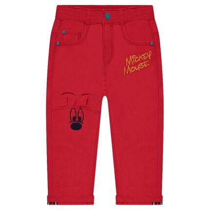 Pantalon en toile fantaisie avec broderies ©Disney Mickey