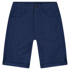 Junior - Bermuda en coton rayé