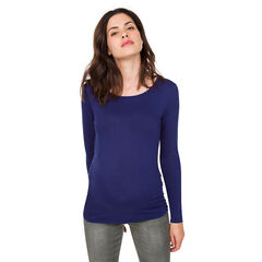 Tee-shirt manches longues de grossesse avec dos croisé