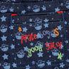 Jeans print pirates et étoiles.