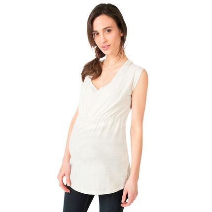 Tunique manches courtes de grossesse et d'allaitement
