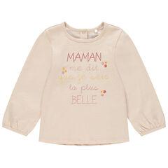 T-shirt manches longues à message printé pour bébé fille , Orchestra
