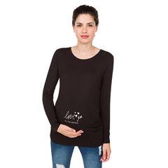 Tee-shirt manches longues de grossesse en jersey uni