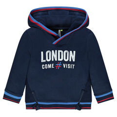 Sweat à capuche avec print London et zips