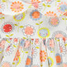Tunique manches longues imprimée fleurs