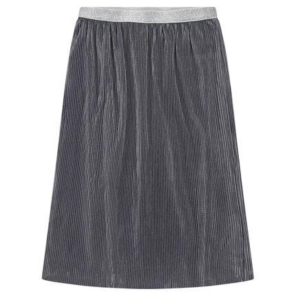 Junior - Jupe mi-longue plissée avec taille brillante