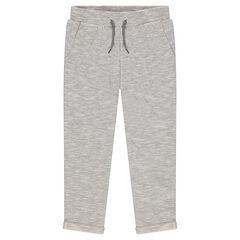 Junior - Pantalon en molleton twisté avec poches