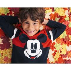Pull en tricot bicolore motif Mickey Disney