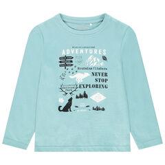 T-shirt manches longues en coton print fantaisie , Orchestra