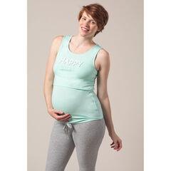 Haut de pyjama de grossesse et d'allaitement forme débardeur