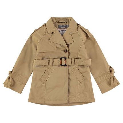 Trench doublé sherpa couleur sable