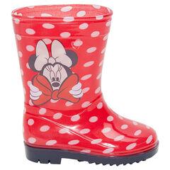 Bottes de pluie en caoutchouc à pois all-over Disney Minnie du 24 au 29
