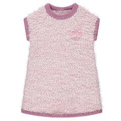 Robe sans manches en tricot effet fourrure et maille pop-corn