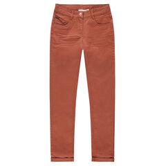 Junior - Pantalon en coton surteint effet crinkle avec petite poche zippée