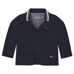 Blazer en jersey lourd avec doublure intérieure rayée