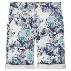 Junior - Bermuda en coton avec imprimé tropical