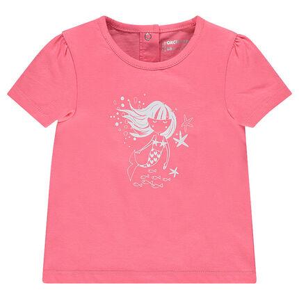 Tee-shirt manches courtes print fantaisie