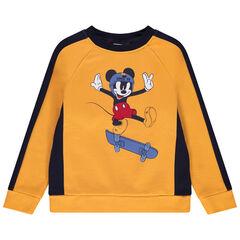 Sweat en molleton bicolore print Mickey Disney