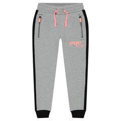 Pantalon de jogging en molleton léger avec 2 poches zippées