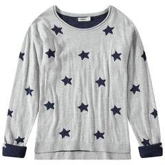 Junior - Pull en tricot à étoiles en jacquard
