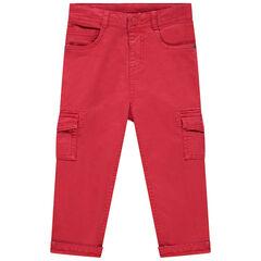 Pantalon en toile rouge à poches , Orchestra