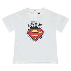 Tee-shirt en coton organique avec print Superman ©Warner