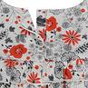 Robe manches courtes volantée à fleurs all-over