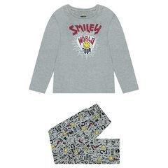 Pyjama en jersey avec prints Smiley