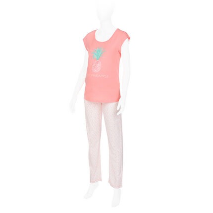 Pyjama de grossesse avec tee-shirt printé et pantalon imprimé all-over