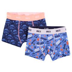 Lot de 2 boxers avec motifs thème espace