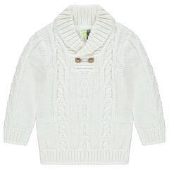 Pull en tricot épais torsadé