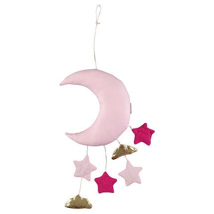 Mobile ouatiné forme lune avec petites suspensions