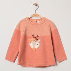 Pull en tricot avec patch fantaisie