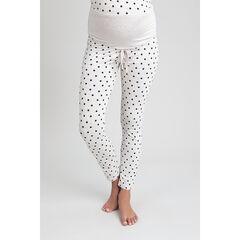 Pantalon de grossesse homewear à pois