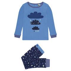 Ensemble de pyjama en coton print nuages et imprimé étoiles