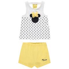 Ensemble avec débardeur print Minnie Disney et short jaune