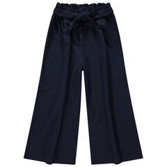 Junior - Pantalon palazzo 7/8 avec ceinture à nouer