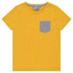 Junior - Tee-shirt manches courtes en jersey avec poche à chevrons