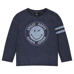 Tee-shirt manches longues avec print ©Smiley