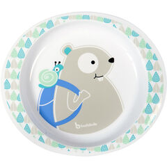Assiette Micro Ondable Blue Beaver