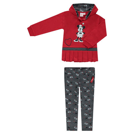 Jogging en molleton avec sweat plissé et print ©Disney Minnie