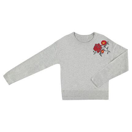 Junior - Pull en tricot forme loose avec motif fantaisie