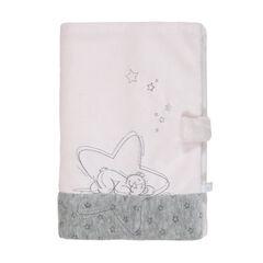 Protege carnet de sante poudre etoiles rose