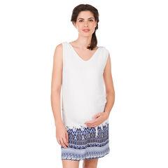 Robe de grossesse sans manches avec imprimé ethnique