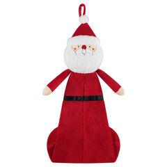 Range-pyjama en velours forme Père Noël