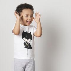 Tee-shirt manches courtes en jersey effet déchiré print ©Warner Batman