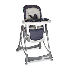 Chaise haute Luxe Métal - Bleu-gris