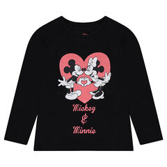 d97dbceba00b2 Tee-shirt manches longues en jersey ©Disney print Mickey et Minnie