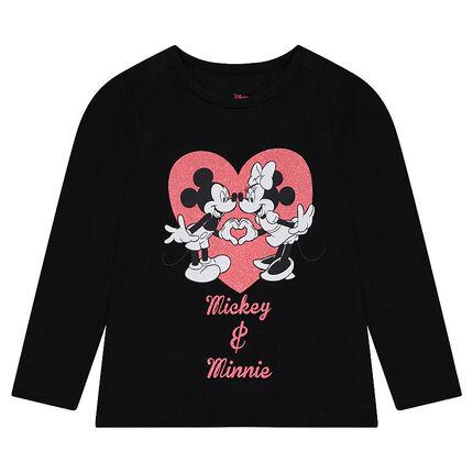 Tee-shirt manches longues en jersey ©Disney print Mickey et Minnie